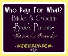 Who Pays at Your Wedding