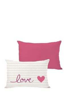 Reversible Love on a Line ll Pillow