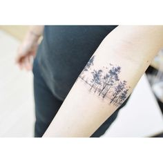: a row of trees 흉터 커버업 Scar Cover up . #tattooistbanul #tattoo #tattooing…