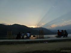 Sunset at Pokhara, Nepal #idowhatiwanto