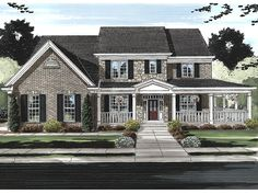 Traditional Home Plan with 3073 Square Feet and 4 Bedrooms from Dream Home Source | House Plan Code DHSW077256