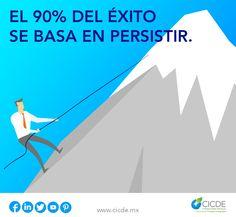 """En CICDE trabajamos para dar soluciones integrales a #empresas de cualquier tamaño. Visita nuestra página web www.cicde.mx y síguenos en redes sociales para conocer más sobre nuestros servicios. """"El 90% del éxito se basa en persistir"""" #FelizJueves #CDMX #LoMío"""