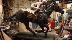 Black Caviar statue unveiled and it is announced, she is pregnant and in foal to Exceed and Excel .