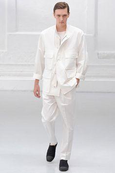 Menswear trend: Crisp whites. Seen here at Neil Barrett.