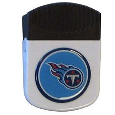 """Checkout our #LicensedGear products FREE SHIPPING + 10% OFF Coupon Code """"Official"""" Tennessee Titans Clip Magnet - Officially licensed NFL product Licensee: Siskiyou Buckle 2 inch wide clip magnet  Strong magnet to hold memos or notes Use a clip to keep chips or other bag items fresh Large dome Tennessee Titans emblem to show off your team pride - Price: $15.00. Buy now at https://officiallylicensedgear.com/tennessee-titans-clip-magnet-frmc185"""