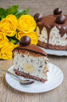 Delicious Deserts, Eat Dessert First, Cheesecake Recipes, Just Desserts, Food And Drink, Cooking Recipes, Sweets, Banana, Blog