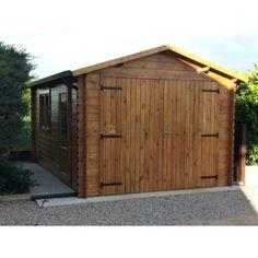 garage in legno 32x52m 28mm 15mq garage in legno massello di abete nordico adatto come rimessa per autoveicoli e attrezzi da giardino - Garage Kits Lowes