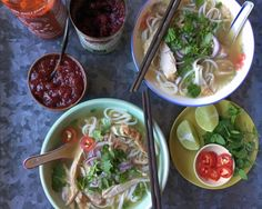 Leftover Thanksgiving Turkey Pho. This recipe uses up scraps to create a pho-tastic Vietnamese-American noodle soup.