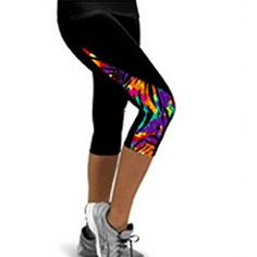 Robiear Women Elasticity Exercise Running Yoga Sports Fitness Gym Cropped Pants XL D ** Read more reviews of the product by visiting the link on the image. (Note:Amazon affiliate link)