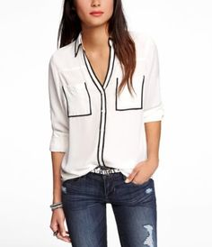 Express Portofino shirt- my goal is to own every single one of them!