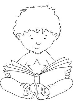 Reading-coloring-1   Free Coloring Page Site
