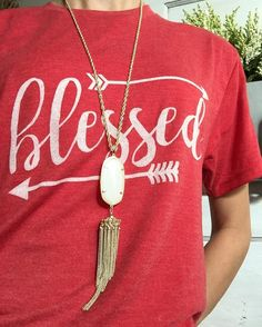 Blessed Arrow Graphic Tee in Vintage Red