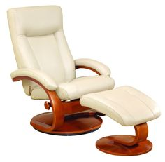 54 Series Leather Ergonomic Recliner And Ottoman