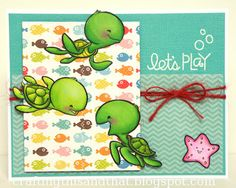 Sister Stamps Turtles - Available from www.HankoDesigns.com