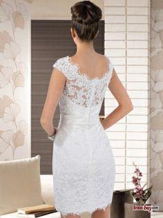 vintage short lace wedding dress