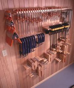 31-DP-00230 - Five Great Clamp Organizers Downloadable Woodworking Plan PDF