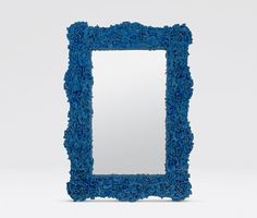 Amazing faux coral mirror.