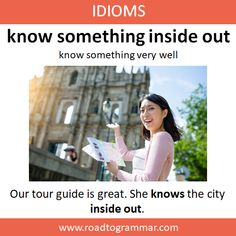 I know English grammar inside out. What's something that you know inside out? Slang English, English Vinglish, English Phrases, English Idioms, English Lessons, English Grammar, Improve English Speaking, Learn English Words, English Conversation Learning