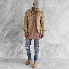 WEBSTA @ ryriches - Beige denim jacket by @amourldn ⚡️