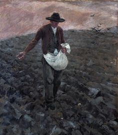 Albin Egger-Lienz – DER SÄMANN, 1903 | Schloss Bruck, Museum der Stadt Lienz Museum, Favorite Words, Thats Not My, Html, Painting, Inspiration, Beauty, German Men, Painters