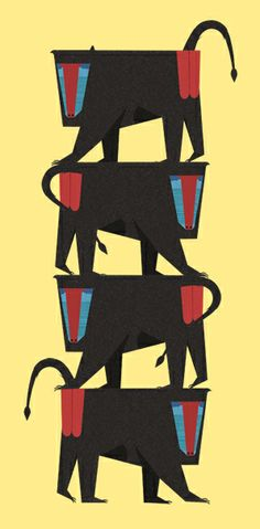 Mandrill Stack  by Ellie Tzoni