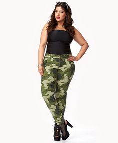 Camo Skinny Jeans | FOREVER 21 - 2050904334