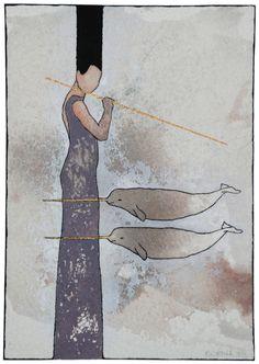 """Aquarelle """"Catch"""" 2012"""