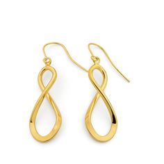 Infinity Styled Earrings. 9ct Gold. Beautiful. Fashion forward. Trendy. Never-ending love. ♥