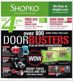 Shopko Black Friday Ad 2016 - http://www.hblackfridaydeals.com/shopko-friday-deals-sales-ads/