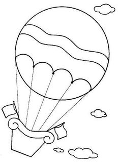 coloring page Hot air balloons on Kids-n-Fun. Coloring pages of Hot air balloons on Kids-n-Fun. More than coloring pages. At Kids-n-Fun you will always find the nicest coloring pages first! Cool Coloring Pages, Cartoon Coloring Pages, Coloring Books, Free Coloring, Applique Templates, Applique Patterns, Balloon Template, Art Pastel, Drawing For Kids