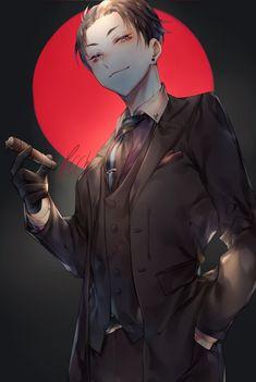 Handsome Anime Guys, Hot Anime Guys, Cute Anime Boy, Anime Demon, Manga Anime, Anime Art, Detective Aesthetic, Pelo Anime, Animes On