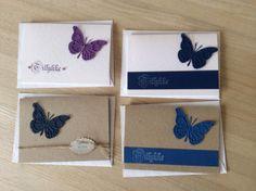 Kort med memorybox die sommerfugl nr 98265 og 98264
