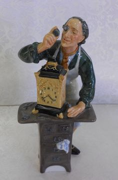 """Royal Doulton """"The Clockmaker"""" - the detail on this figurine is amazing.  For sale:  https://www.facebook.com/pages/Estate-Sale-Shoppe/271891436535"""