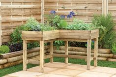 Corner Table Planter Part of our new 'Accessible Gardening' range, this high level corner planter makes gardening accessible to everyone, including the less-abled gardener, those with limited garden space and has also been designed with wheelchairs in mind. #accessiblegardening
