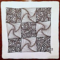 Joey's Quilt Zentangle Challenge #35 - Quilt. Used Mysteria and Rick's Paradox for tangles. #zentangle #tangles
