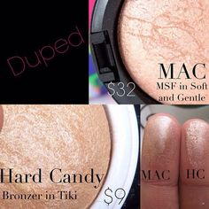 Mac soft and gentle dupe Hard Canyon Tiki baked powder