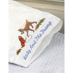 """Disney Dreams 20""""X30"""" Stamped Pillowcase 2/Pkg-Lady And The Tramp"""