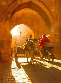 Keyhole Arches in the Marrakech Medina.