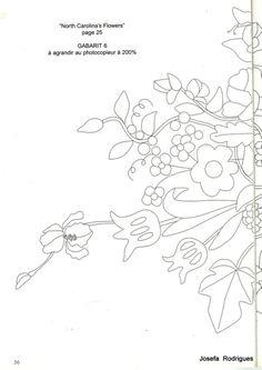 (206) Gallery.ru / Фото #30 - 6 - svet1313 Embroidery Patterns Free, Zentangle Patterns, Ribbon Embroidery, Embroidery Applique, Quilt Patterns, Applique Templates, Flower Template, Pattern Drawing, Applique Quilts