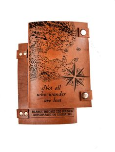 Travel journal - leather journal - personalized journal - travel notebook - custom journal - not all who wander are lost - sketchbook
