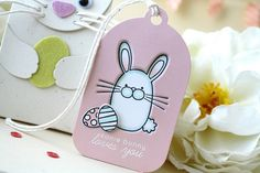 Some Bunny Loves You Tag by Laura Bassen for Papertrey Ink (February 2014)