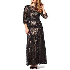 Buy Studio 8 Cara Lace Maxi Dress, Black Online at johnlewis.com