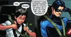 Nightwing (Dick Grayson) and Robin (Tim Drake)