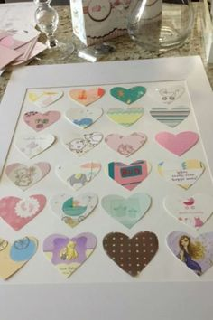 Take old cards from baby shower, holidays, birthdays, or any special occasion cut and hang them