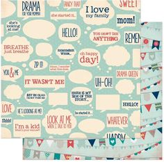 Bo Bunny Press - Family Is Collection - 12 x 12 Double Sided Paper - Happy at Scrapbook.com $1.01