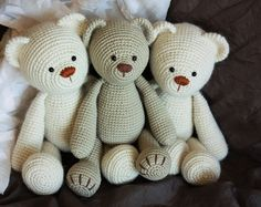 Crochet Amigurumi Teddy Bear PATTERN - Lucas the Teddy - Classical Teddy Bear Crochet PDF Tutorial - Instant download- Printable- In English