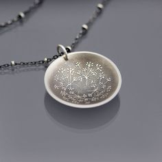 Queen+Anne's+Lace+Necklace++etched+sterling+silver+by+lisahopkins,+$72.00