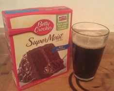 Ingredients    Chocolate Cake Box Mix  1 Can of Soda – I used Diet Dr. Pepper        Instructions      Mix the cake mix and soda together in a bowl — that is all. No need to add ANYTHING else. No Eggs. No Oil. No Water.  Follow the instructions on the box for baking instructions — bakes like a normal cake  So light and yummy!