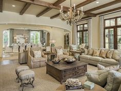 Magnificent Gated Mansion in Dallas: Living Room  #room #livingroom