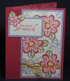 Fanciful Thanks by 2katjes - Cards and Paper Crafts at Splitcoaststampers